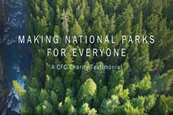 Screenshot of opening screen to national parks foundation video